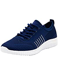 Men's Knit Sport Walking Shoes Lightweight Comfy Sneaker for Running and Jogging