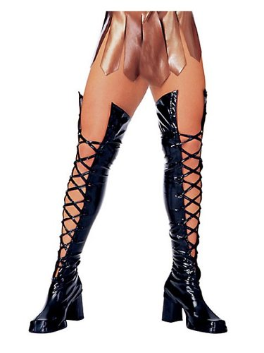 - Rubie's Costume Co Black Laced Thigh Highs Costume, One Size