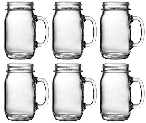 (Heavy Glass Jar Drinking Mug (6))