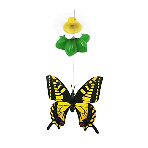 Image of Patgoal Funny Cat Toys Electric Rotating Butterfly Birds Steel Wire Cat Teaser Fly Toy (Butterfly)
