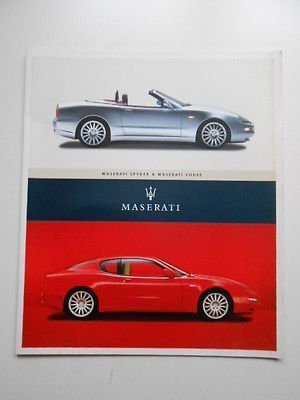 Maserati cars rare vintage limited issued press kit with CD rom 2002
