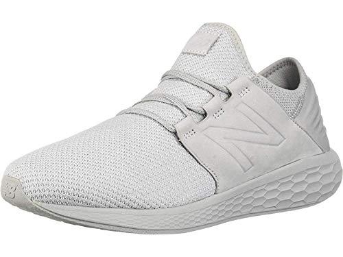 New Balance Men's Cruz V2 Fresh Foam Running Shoe, arctic fox/white/nubuck, 14 2E US by New Balance