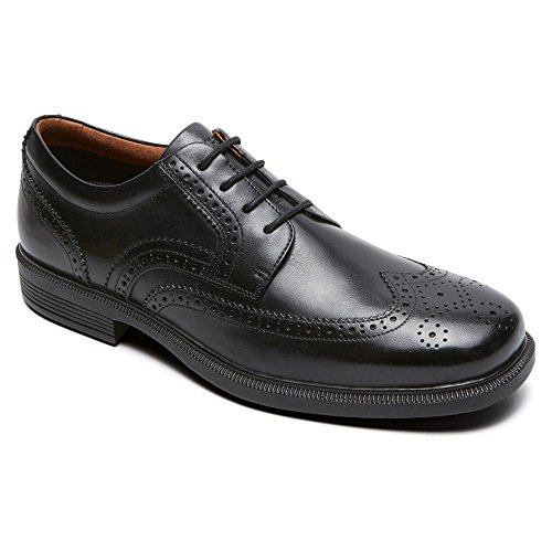 UPC 888593317794, Rockport M76873 Mens Dressports Luxe Wing Tip Ox Shoes, Black-9.5W
