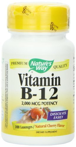 Natures Way Vitamin B-12, 100 Loz, 2000 Mcg by Natures Way