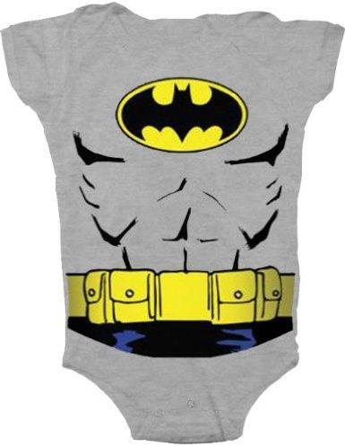 Batman Uniform Costume Charcoal Gray Snapsuit Infant Onesie Baby Romper (18 Months)