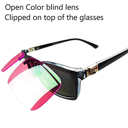Outdoor Adjustable Clip Colorblindness Corrective Glasses Color Blind Red Green Color Blind Vision Care by ATINGSH (Image #3)