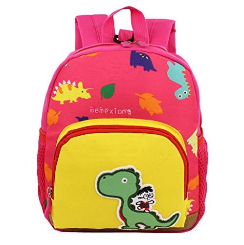 Boys Girls Bookbags Dinosaur Pattern Cartoon Lightweight Backpack School Bags with Bottle Side Pockets ()
