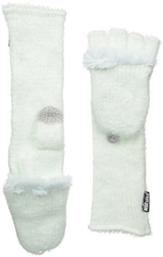 Muk Luks Women's You Are So Beautiful Long Flip Mittens-Fuzzy, Mint, One Size