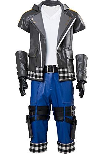 Wecos Kingdom Hearts III Riku Outfit Halloween Costume Uniform Jacket Pants Large]()