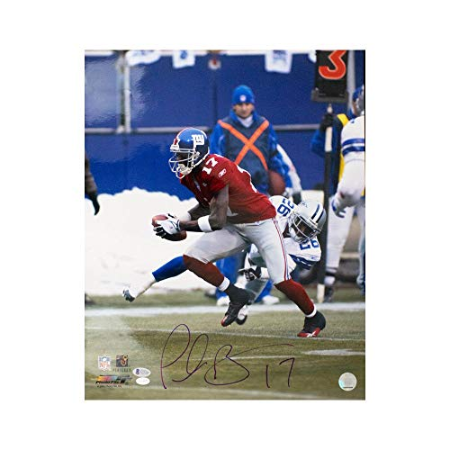 (Plaxico Burress Autographed New York Giants 16x20 Photo - BAS COA)