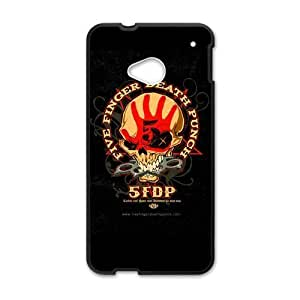 Custom Metal Band Five Finger Death Printing for HTC One M7 Case