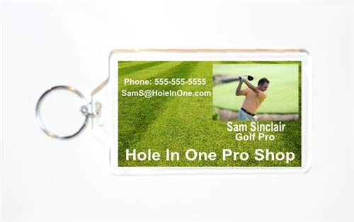 Acrylic Photo Snap-in Business Card Size Key Chain - 2x3.5