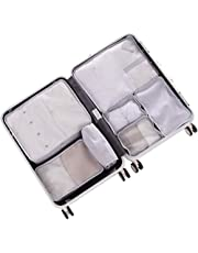 7set Packing Cubes -TZbonjourney Packing Organizers with Toiletry Bag and Shoe Bag