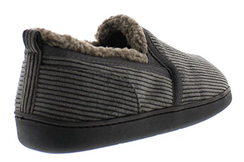 Corduroy Fleece Shoes Slippers Slip Gordon 12 Sherpa Foam Casual Memory Grey Toe Mens Loafer Gold House US Lined On P48Xx