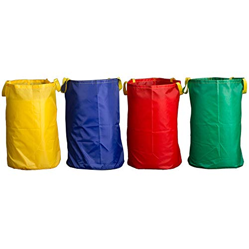 Potato Sack Race Bags 28x40'', Pure Color Jumping Pocket Parent-Child Adult Children Sense Sports Game Equipment Party Accessory(Set of 4) ()
