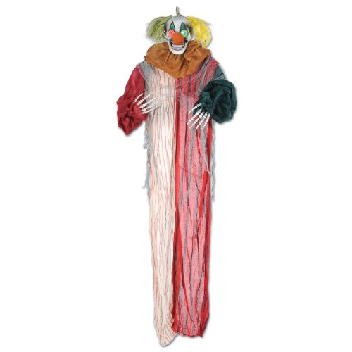 Beistle Creepy Clown Creepy Creature, 6-Feet 6-Inch