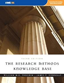The Research Methods Knowledge Base William Trochim and James P Donnelly