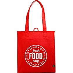 Domestic Dreams Thermal Reusable Insulating Grocery Bag, Large, Red