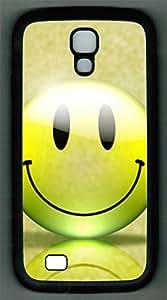 Samsung Galaxy S4 I9500 TPU Supple Shell Case Smiley Black Skin by Sallylotus by runtopwell