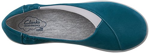 Clarks mujer cloudsteppers Sillian Jetay soporte de Teal Synthetic