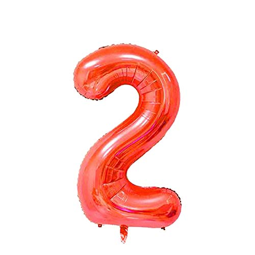 CHoppyWAVE 30/40 Inch Foil Balloon Number Figure Wedding Birthday Party Festivals Decor - Red 30 inch 2