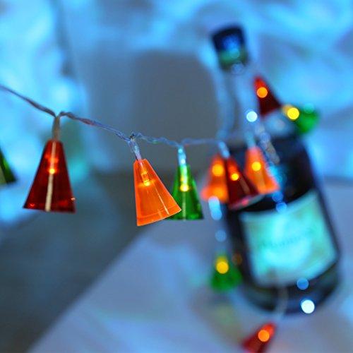 LANGRIA Multi-Color Bells String Lights Battery...