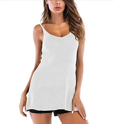 八百屋腐敗損なうAngelSpace 女性の純粋な色無地ニットシャツのセクシーなスリムフィットベスト