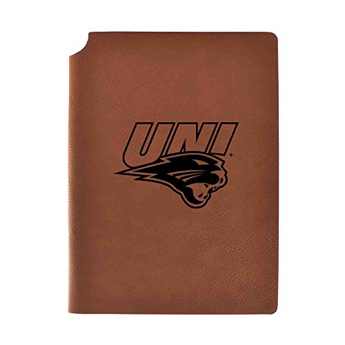 (University of Northern Iowa Velour Journal with Pen Holder|Carbon Etched|Officially Licensed Collegiate Journal|)