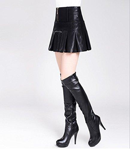 Mee Shoes Damen Reißverschluss hoch tailliert Faltenrock