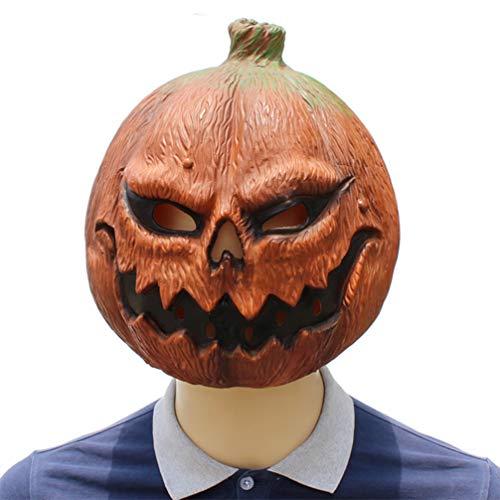 (Novelty Funny Halloween Cosplay Party Costume Latex Head Mask - Pumpkin)