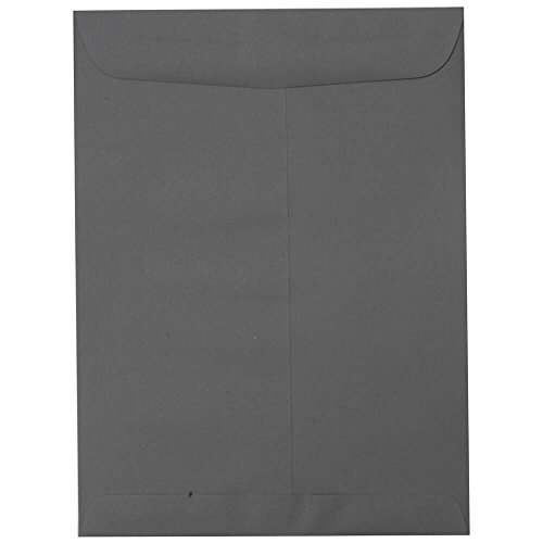 "JAM Paper 10"" x 13"" Open End Catalog Envelopes with Gum Closure - Dark Grey - 10/pack"