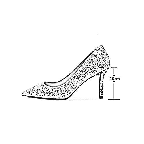UK3 Cristal De 2018 taille Escarpin EU36 De Pointu CN35 Talons Chaussures Or 8cm Mariage Hauts Couleur 5 10cm Chaussures Saison Mariée En MUMA Printemps Sexy 7Zw1qx7H