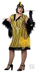 Charleston Vestido Negro XL Amarillo