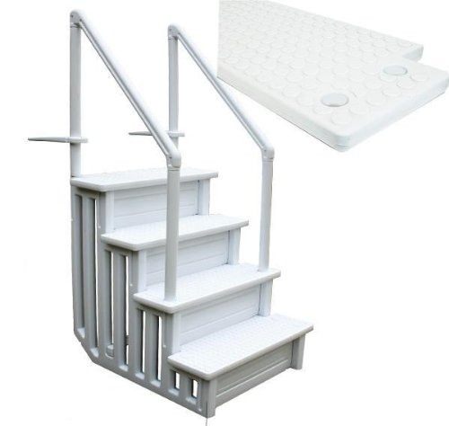 XtremepowerUS 32 Inch Safety Step Above Ground Swimming Pool Ladder /W Handle Slip Prevent by XtremepowerUS