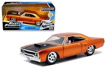 Amazon.com: New 1:24 Fast & Furious 7 Dom's 1970 Orange Copper ...