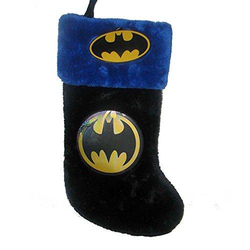 Kurt Adler Batman Logo Applique Stocking, 19-Inch ()