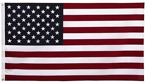 Cheap American Flag 3 x 5 Foot   Made in USA   Certified By Front Line Flags   Brass Grommets for Easy Display   U.S. Poly Flag