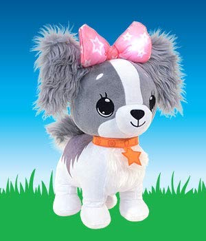 Wish Me Puppy with Light and Sounds Kids Interactive Soft Toys Blue Cavalier