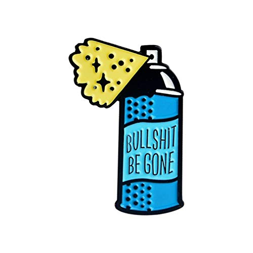 DearAnswer Creative Cartoon Letter Drink Bottle Brooch Creative Dessert Design Enamel Brooch Pin for for Clothes Bag Hat Decoration Accessories ()