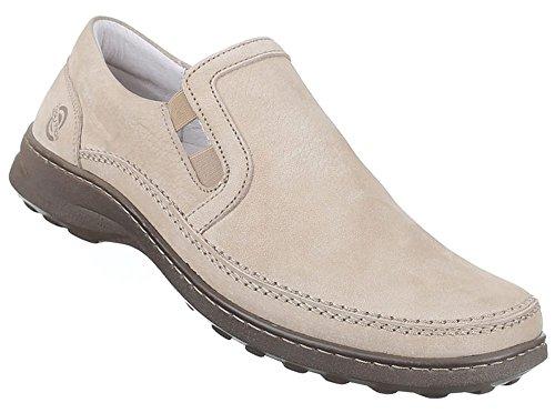 Herren Halbschuhe Schuhe Leder außen und innen Slipper Loafers Freizeitschuhe übergrößen schwarz weiss braun 41 42 43 44 45 46 47 Beige