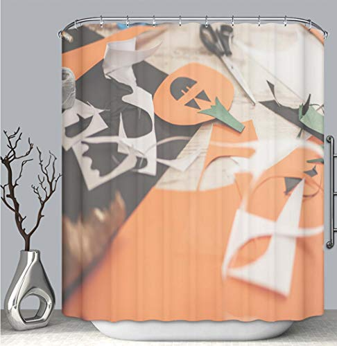 BEICICI Color Shower Curtain Liner Anti-Mildew Antibacterial, Preparations for Halloween Multi-Color,Custom Shower Curtain Bathtub Bathroom Accessories.]()