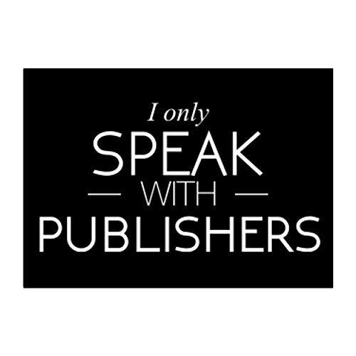 Idakoos - I only speak with Publishers - Occupations - Sticker Pack x4