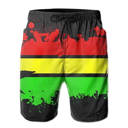 e836436086 Used, BE6h Read Rasta Flag Men's Summer Surf Short Swim Trunks for sale  Delivered anywhere
