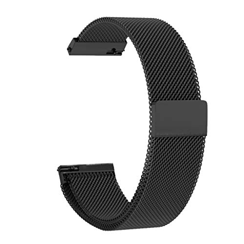 UMFun Milanese Loop Strap Quick Release Band For Samsung Galaxy Watch Active (Black)]()