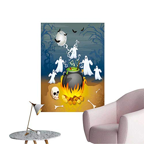 (Modern Decor of Ghost from Cauldron in Halloween Background Ideal Kids Decor or Adults,32
