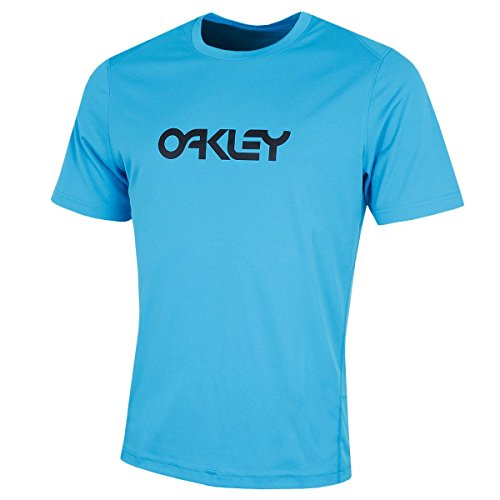 Oakley Men's Short-Sleeve Surf Tee Rashguard - Atomic Blue - X-Small (Guard Oakley Rash)