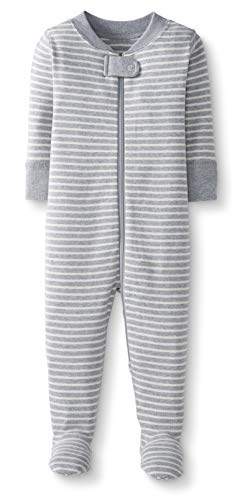 Moon and Back by Hanna Andersson Baby/ Toddler One-Piece Organic Cotton Footed Pajama, Gray, 2T from Moon and Back by Hanna Andersson