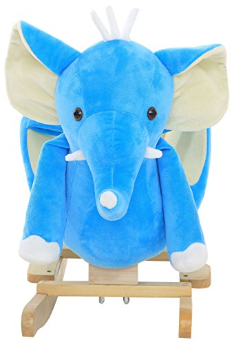 DanyBaby Ultra Soft Rocking Animal Ride on Plush Elephant Chair Embroidered Words ''I Love My Baby!'' by DanyBaby