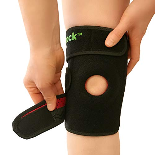Patella Stabilizing Knee Brace: Intock Adjustable Knee Braces for Women & Men, Non-Slip Neoprene Compression Knee Support Band Sleeve for Arthritis, Knee Pain Relief, Knee Guard, Leg Protection ()