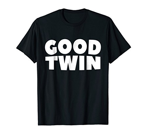 Good Twin Funny Halloween Shirt Twins Best Friend Costume